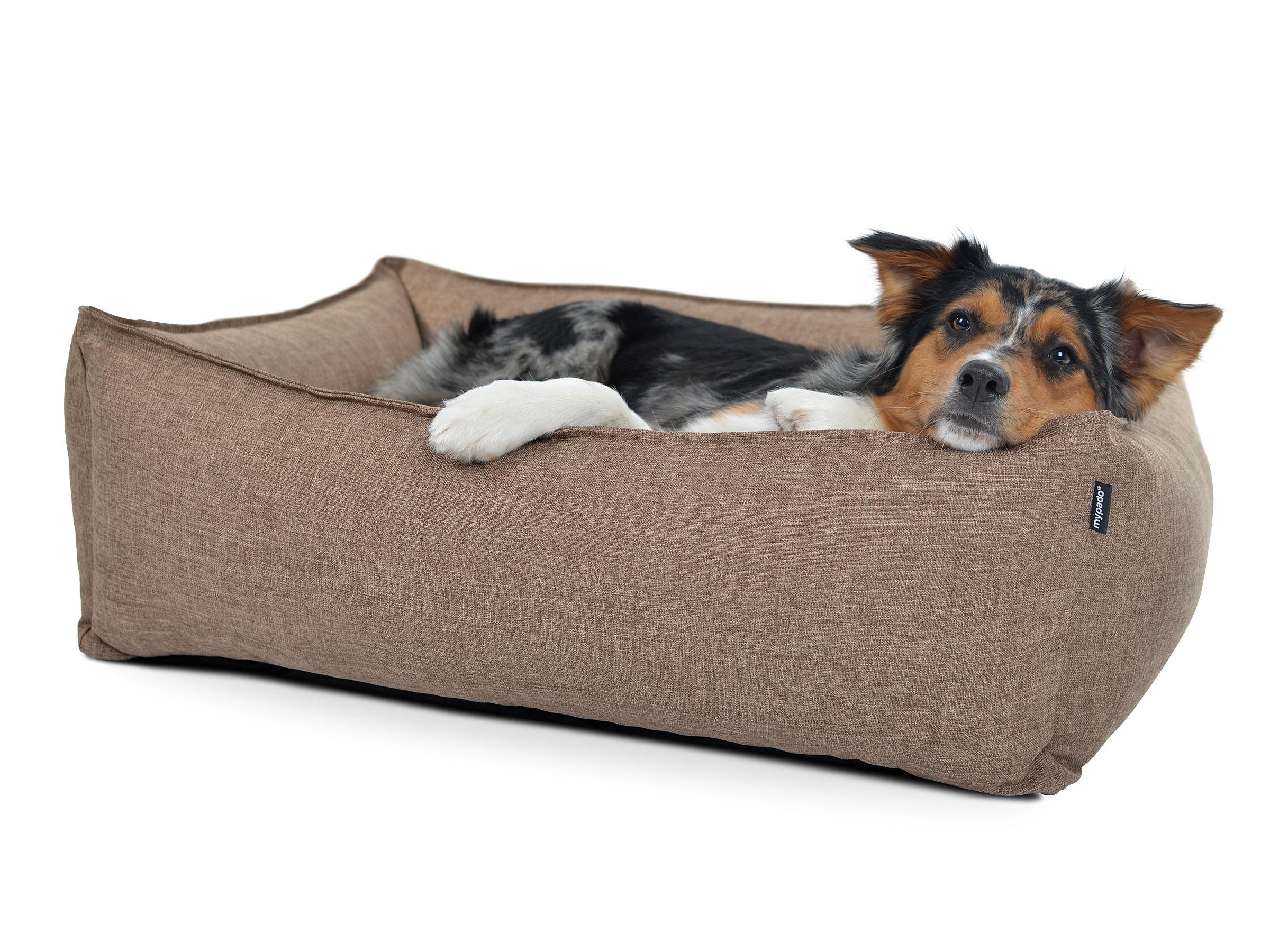 hundebett aus modernem strukturstoff dreamcollection. Black Bedroom Furniture Sets. Home Design Ideas